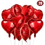 O-Kinee Palloncini Cuore Rosso, 20 Pezzi Amore Cuore Palloncini Rosso Cuore, Palloncini per Valentines Day, Palloncini Cuore