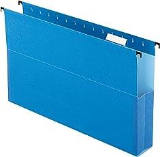 "Pendaflex SureHook Reinforced Hanging Box File, 2"", Legal, Blue, 1/5 Cut, 25/BX (59302)"