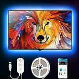 Govee 2m led strip, led tv-achtergrondverlichting, geschikt voor 40-60 inch tv's en pc's, app-bediening, RGB, USB-bediening
