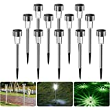 Luces solares Jardín, Nasharia 12 Pcs IP65 LED al Aire Libre Lamparas solares Jardín/Paisaje Impermeable, Energía Solar Luces