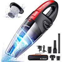 Audew Handheld Vacuums Cordless, Portable Handheld Vacuum Cleaner with Powerful Suction, 120W Rechargeable Handheld Hoover, Lightweight Wet Dry Vacuum for Home, Car and Pet, Black and Red.