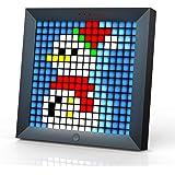 Divoom Pixoo Pixel Art Digitaler Bilderrahmen mit 8,6-Zoll-Stimmungslicht-App-Steuerung, Schreibtisch- / Wand-LED-Smart-Uhr,