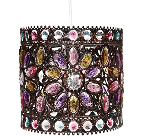 Marya 8 Light Oil Rubbed Bronze Double Beaded Drum Shade Crystal Chandelier