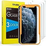 SPARIN 3 Pezzi Vetro Temperato Compatibile con iPhone 11 PRO/XS/X 5,8 Pollici, Pellicola Protettiva con Strumento per Una Fac