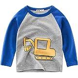 Oyoden Camisetas Manga Larga Niños Dibujos Animados Tops Algodón Blusa 1-8 Años
