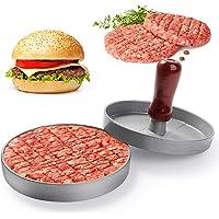 NOBRANDED Pressa per Hamburger  Stampo Hamburger Antiaderente  Pressa Stampa in Alluminio Burger Maker  per Cheeseburger Hamburger  Succosi di Carne Macinata e Barbecu  Utensili da Cucina