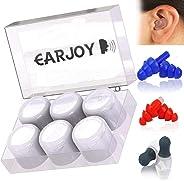 Ear Plugs for Sleeping by EaJo 3 Types Reusable Silicone Custom Fit Earplugs