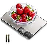 NBPOWER Digitale Küchenwaage 15KG Digitalwaage Professionell Elektronische Waage küchen, Haushaltswaage aus Edelstahl mit Gro