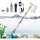 bedee 6 en 1 Limpiador Eléctrico para Acuarios,Limpiador Grava Acuario,para Sifón Acuarios,Cambio de Agua/Grava,Limpieza de S