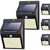 【5 Pack/3 Mode】 Solar Security Lights Outdoor,100 LED Solar Powered Motion Sensor Lights with 3 Lighting Modes,Waterproof Wir