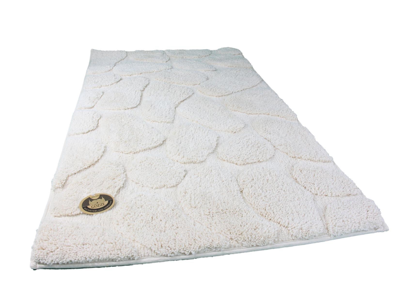 G�zze 1032-13-060100, Tappetino da bagno, design: pietre, Bianco (Natur), 60 x 100 cm
