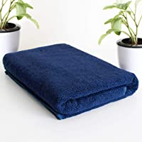 Roseate® Ultra Soft 100% Cotton (550 GSM / 70x140 cm) Large Bath Towel Super Absorbent/Anti Bacterial (Blue) Pack of 1