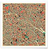"""JUNIQE Poster 20x20cm Berlin Stadtpläne - Design """"Berlin"""" (Format: Quadrat) - Bilder, Kunstdrucke & Prints von unabhängigen Künstlern - Kunst & Bilder von Berlin - entworfen von Jazzberry Blue"""