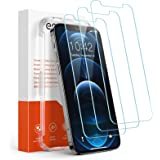 Amazon Brand - Eono 3 Pack Screen Protector for iPhone 12 and iPhone 12 Pro, Tempered Glass Film 6.1 Inch, Anti-Scratch, 0.33
