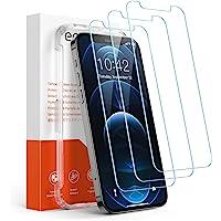 Amazon Brand – Eono [3 Stück] Panzerglas Schutzfolie Kompatibel mit iPhone 12 und iPhone 12 Pro, Anti-Kratz, 9H Härte…
