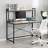 sogesfurniture Schreibtisch großer Computertisch PC Laptop Tisch Bürotisch Arbeitstisch mit Ablage als Bücherregal, aus…