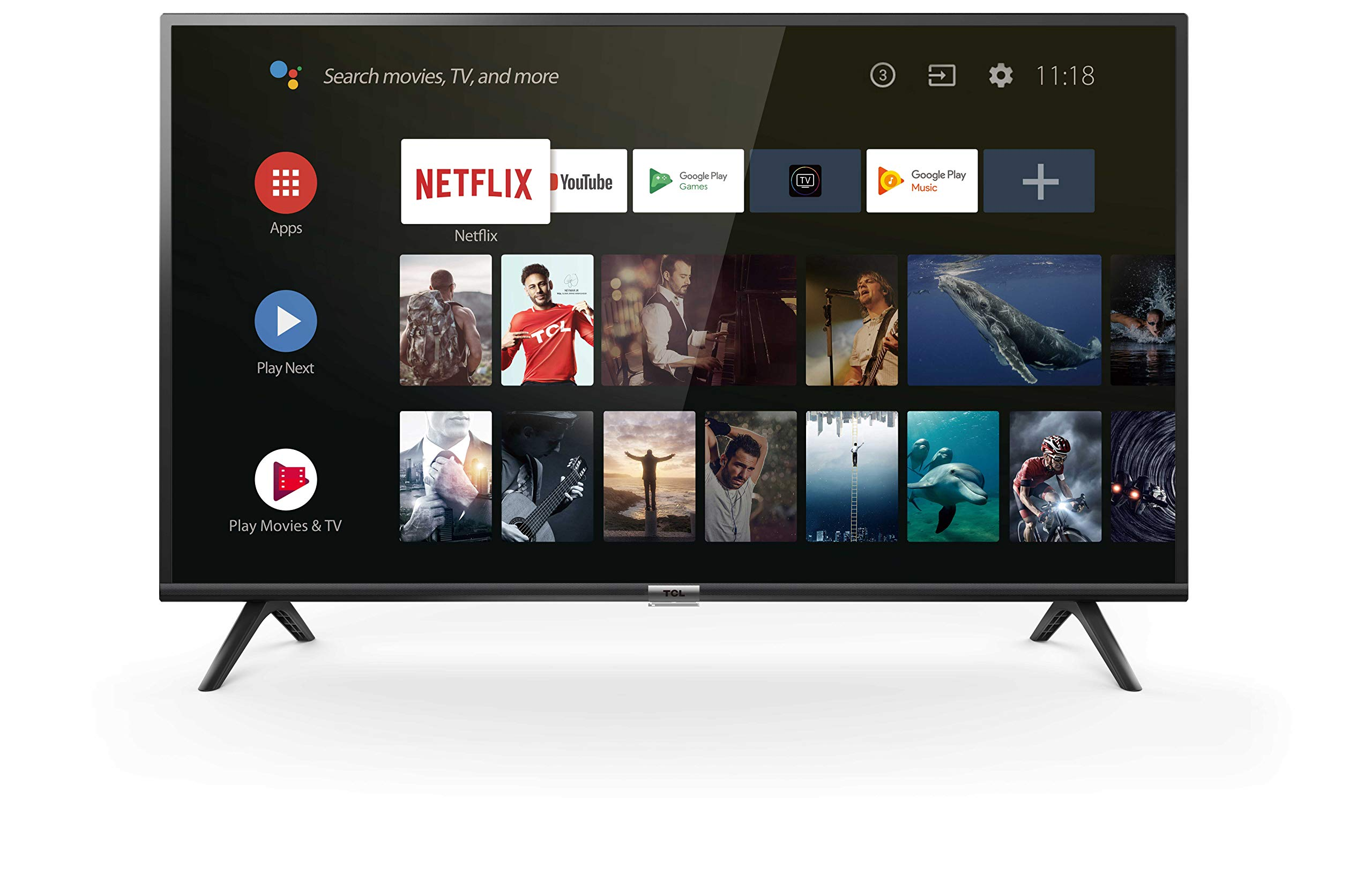 tcl 40es561 fernseher 100 cm 40 zoll smart tv full hd android tv hdr micro dimming. Black Bedroom Furniture Sets. Home Design Ideas