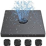 AnjoCare Sol- och reservoarpump 3,2 W, uppgraderad 4-i-1 munstycke solvattenpump fristående flytande, soldriven reservoarpump