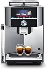 Siemens EQ.9 s900 Connect TI909701HC Kaffeevollautomat (1500 Watt, Keramik-mahlwerk, 2 Bohnenbehälter, Großes TFT-Display, Baristamodus, Home Connect) edelstahl