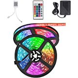 BUDGIE (TM) RGB LED Strip with 24 Key Remote and Adapter for House Party and Decorations Diwali Light Special 5 Meter Multico