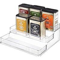 iDesign rangement cuisine, grande étagère de rangement en plastique à 3 niveaux, étagère à épices pratique pour épices…