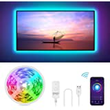 Gosund 2.8M Tira Led TV/PC, Tira LED Wifi USB Control Remoto para Ajustar 16Millones Colores y Brillo, Compatible con Alexa/G