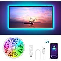 Striscia Led RGB Intelligente, Gosund 2.8M Retroilluminazione Nastro Luminoso LED Multicolor Compatibile con Alexa e…
