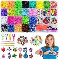 Élastiques Bandes en Caoutchouc, Loom bands elastiques,Kit de Métier à Tisser Bracelets Élastiques Caoutchouc Bracelet…