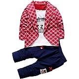 Bekleidung Longra 2pcs Kleinkind Baby Jungen Kinder Shirt Tops + Lange Hosen Kleidung Outfits Gentleman Jungen Kleidung Set(1-4Jahre)
