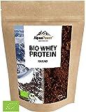 ALPENPOWER | BIO WHEY Protein Kakao | Ohne Zusatzstoffe | 100% natürliche Zutaten | 7 Sorten | Bio-Milch aus Bayern und Österreich | Superfood Kakao | Hochwertiges Eiweiß | Low Carb | 500 g