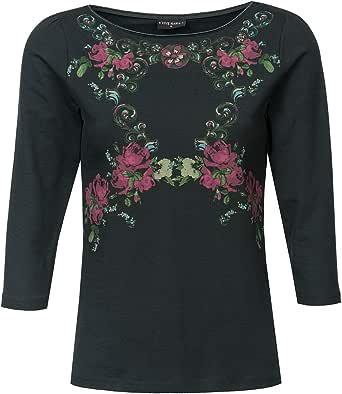 Vive Maria Folk Romance - Maglietta a maniche corte, colore: grigio scuro