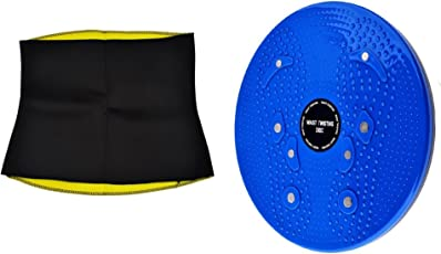 Stylish Step Combo Free Size Hot Sweating Body Shapers Belt and Tummy Twister for Women & Men