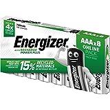 Energizer AAA-batterier, uppladdningsbara Power Plus-batteri, 8 uppladdningsbara batterier AAA (700 mAh), förpackningen kan v