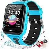 Smooce smartwatch kind Telefoon, kids smartwatch Muziekspeler met Sd-kaart 7 Puzzel Games Call SOS Camera Alarm Recorder Calc