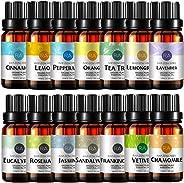 Top 14 Essential Oil Set 100% Pure Aromatherapy Essential Oil (Lavender,Jasmine,Peppermint,Vetiver,Sandalwood,Eucalyptus,Ora