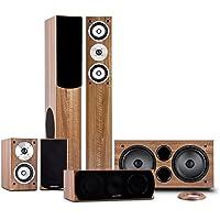 auna Linie-501-WN - 5.1 home cinema system, sound system, 600W RMS, 2 floorstanding speakers ...