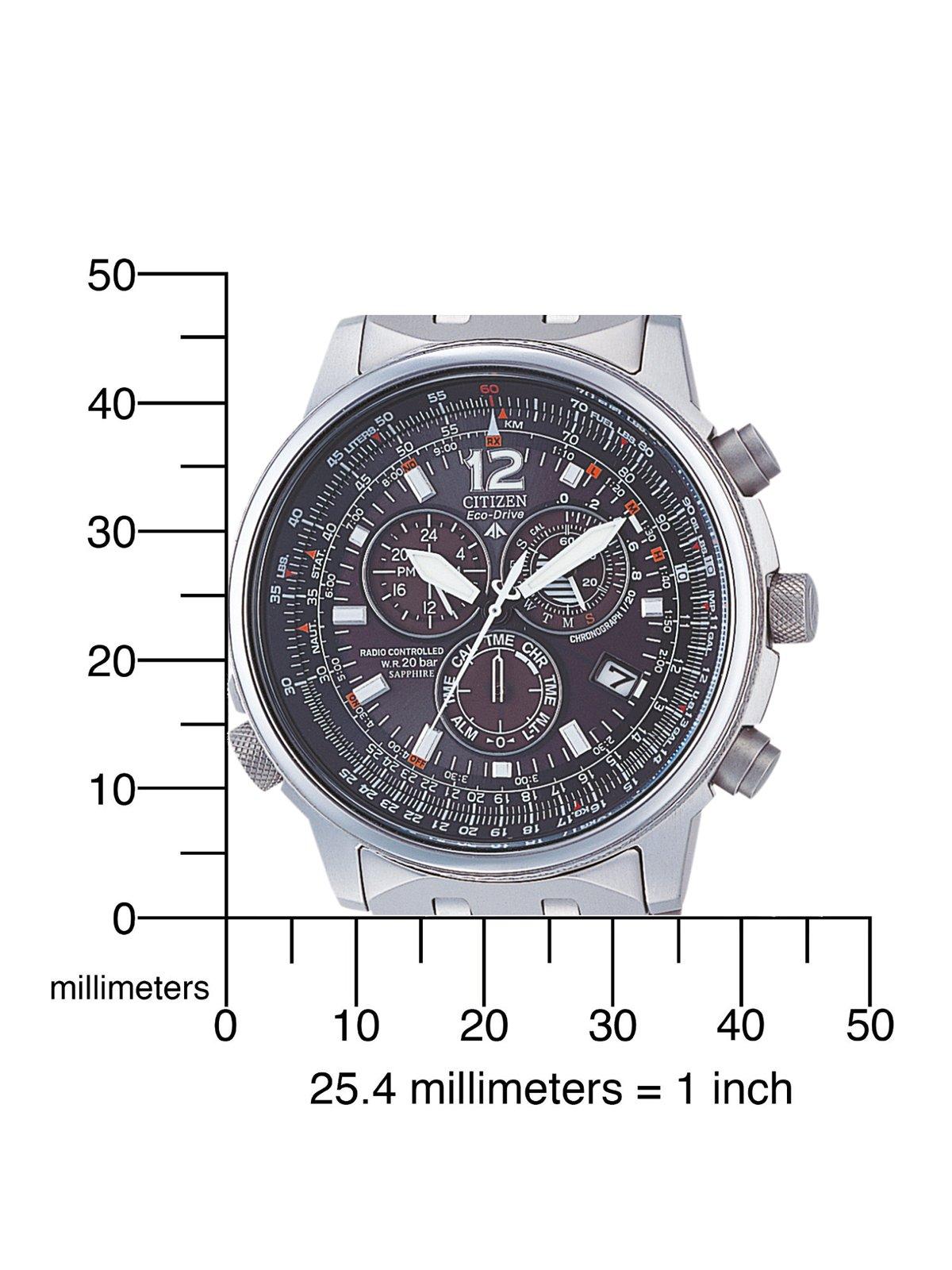 Citizen AS4050-51E - Reloj cronógrafo Ecodrive para hombre, correa de titanio color plateado 3