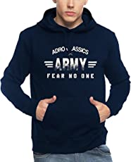 Adro Men's Army Printed Cotton Hoodies