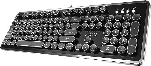 Azio Mk Retro Mechanical Keyboard (Black)