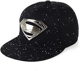 FAS Men's Cotton Superman Snapback and Hip hop Cap(Multicolour)