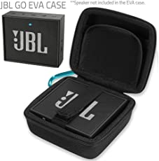 Case U Case For Jbl Go Portable Bluetooth Speaker Hard Eva Carry Bag Case Cover Fit Charger And Cables Black [Speaker Not Included]