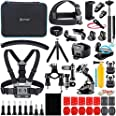 A Artman Action Camera Accessories Kit 58-In-1 Compatible with Gopro MAX GoPro Hero 9 8 7 6 5 4 3+ 3 2 1 Black SJ4000/ SJ5000