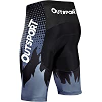Wespornow Men's-Cycling-Shorts Padded-Bike-Shorts Quick-Dry-Tights-Breathable-Bicycle-Shorts for Road Cyling, MTB Biking