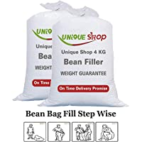 UniqueShop 4Kg High Density Bean Bag Refill | Bean Bag Fillers for Bean Bags