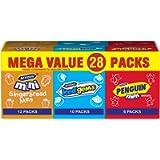 McVities Mega Value 28 Packs 12 Mini Ginger Bread Men, 10 Iced Gems& 6 Mini Cookies