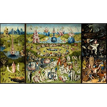 Spiffing Prints Hieronymus Bosch , The Garden of Earthly Delights , Extra  Large , Semi Gloss Print Vintage Wall Art Poster Picture Giclee Artwork