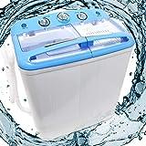 Wiltec Mini Lavatrice da Campeggio Camping Max 5,2 kg con centrifuga 200 Watt Timer