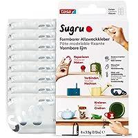 Colle modelable fixante Sugru de Tesa, haute adhésion pour tout usage, pack de 8 (8 x 3,5 g) en blanc