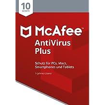McAfee AntiVirus Plus 2018 für 10 Geräte [Online Code]