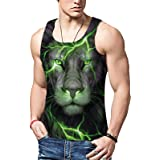 ALISISTER Mens 3D Tank Tops Funny Printed Casual Sleeveless Sport Gym Vest Shirt S-XXL
